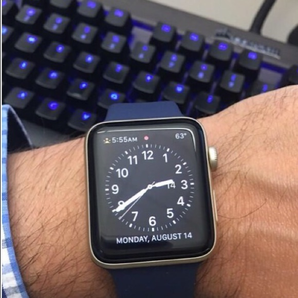 Apple Accessories Watch Series 2 42mm Gold And Midnight Blue